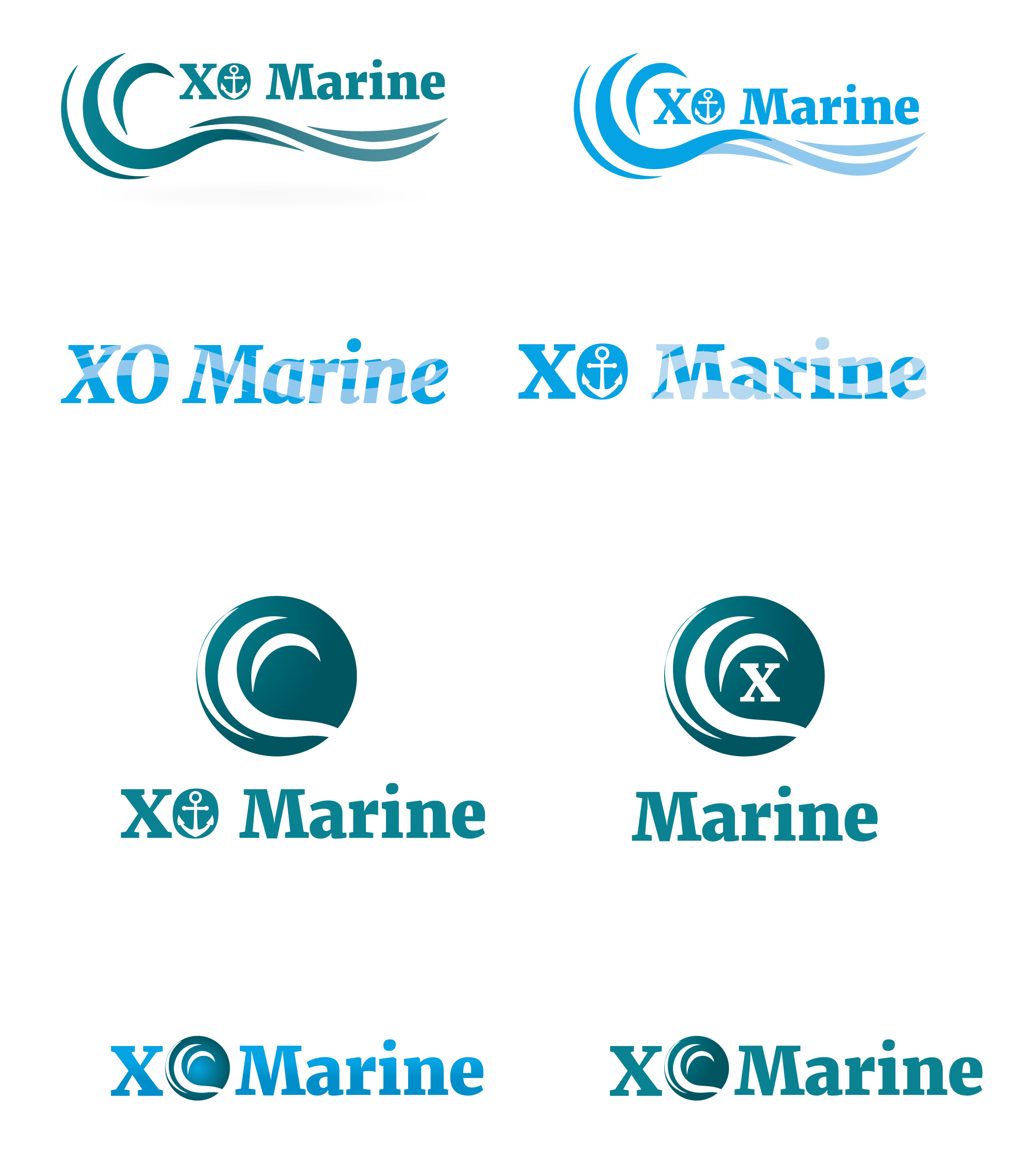 XO Marine logo web design in riga
