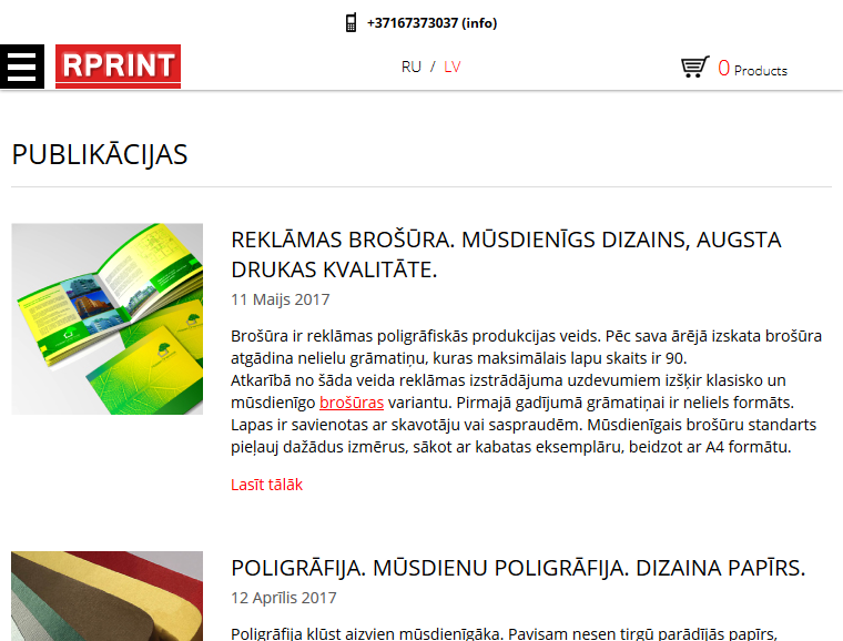 rprint web design in riga responsive design